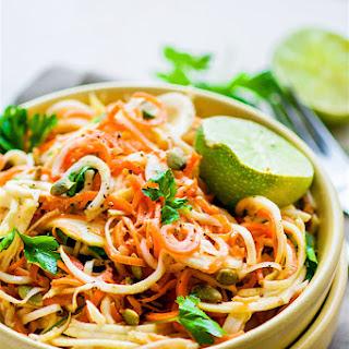 Carrot Celeriac Spiralized Salad {Vegan, Paleo}.