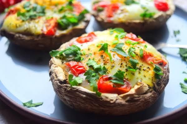 Baked Mushroom & Egg Recipe