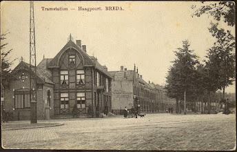 Photo: 1912 Tramstation Haagpoort (hoek Haagdijk-Tramsingel)
