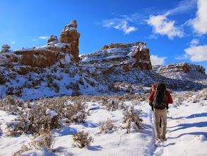 Photo: Awesome scenery with the new snow and red rocks.