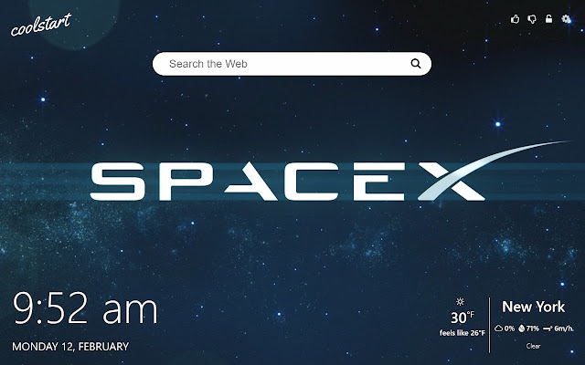 SpaceX Wallpapers HD New Tab Theme