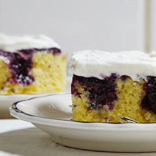 Lemon-Blueberry Poke Cake