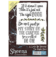 Sheena Douglass A Little Bit Sketchy A6 Stamp - The Right Door UTGÅENDE