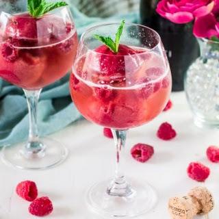Raspberry Sorbet Bellini.