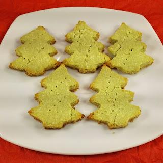 Crispy Matcha Christmas Cookies.
