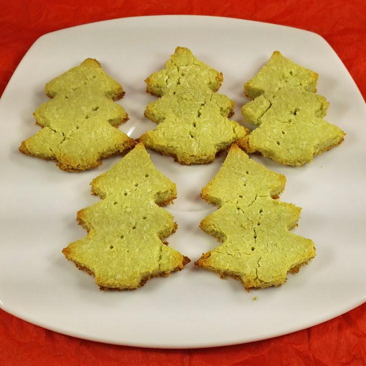 Crispy Matcha Christmas Cookies