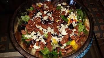 Roasted Blueberry and Mango Salad