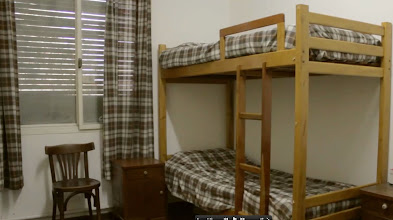 Photo: A typical seminary dorm room. Each room is shared by two students.