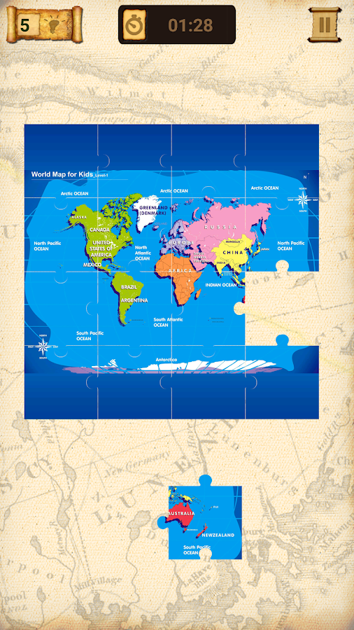 World Map Jigsaw Puzzle Android Apps on Google Play