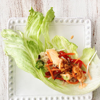 Crock Pot Bang Bang Chicken Lettuce Wraps
