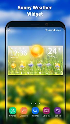 Live weather & clock widget screenshots 2