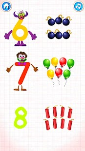 Learning numbers for kids! Writing Counting Games!- screenshot thumbnail