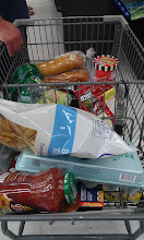 Photo: We bought the food we needed for a yummy taco salad with some Jennie-O ground turkey, along with some other food we needed.