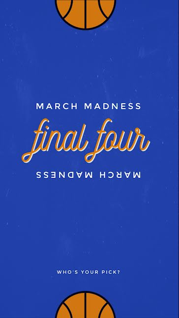 March Madness Final Four - March Madness template