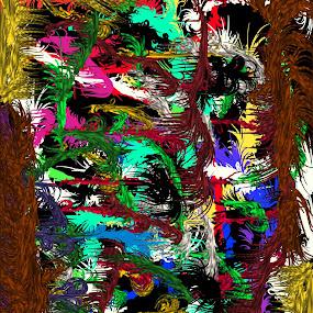 Digital art by Linda Tribuli - Drawing All Drawing ( digital abstract art )