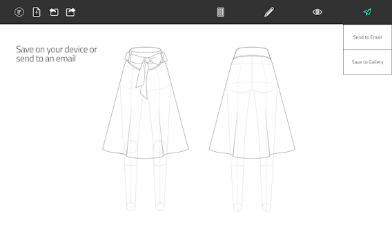 Fashion Design Flat Sketch APK screenshot thumbnail 10