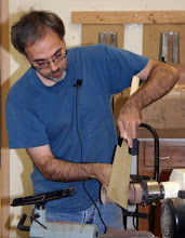 Photo: The stem is going to be off axis, so a little work with a Japanese saw is need to release the form on a bias.