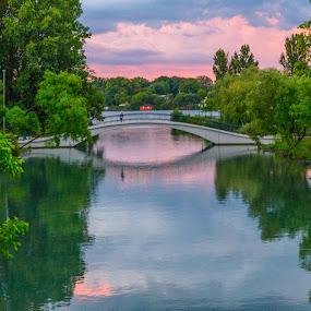 After the storm by Donna Sparks - Buildings & Architecture Bridges & Suspended Structures ( color, sunset, bridge,  )