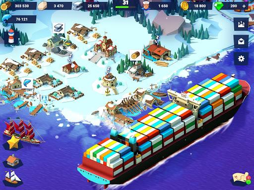 Code Triche Sea Port: Jeu de Simulation D'Empire Maritime APK MOD screenshots 3