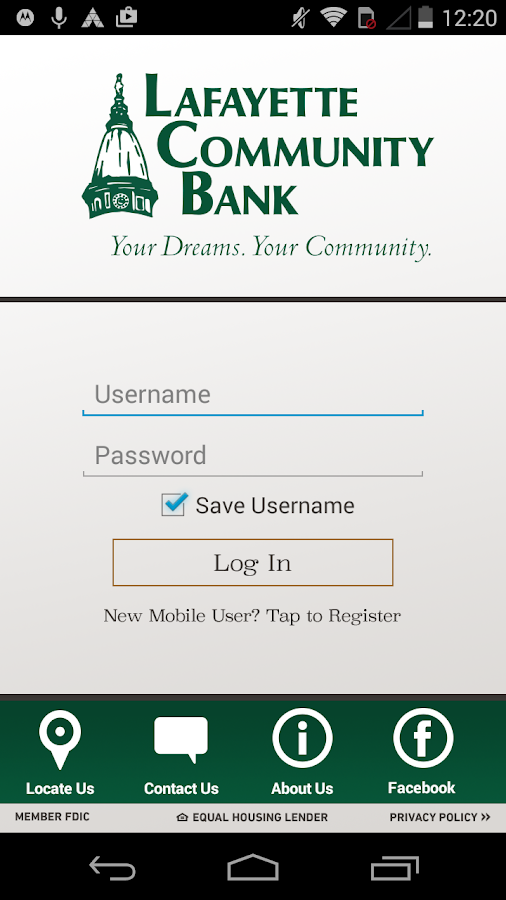 Lafayette Community Bank- screenshot