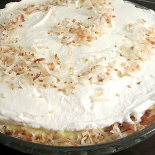 Coconut Lovers Banana Cream Pie #ImprovCookingChallenge.