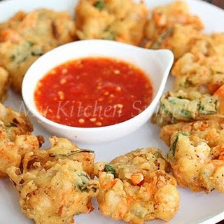 Shrimp and Carrot Fritters.