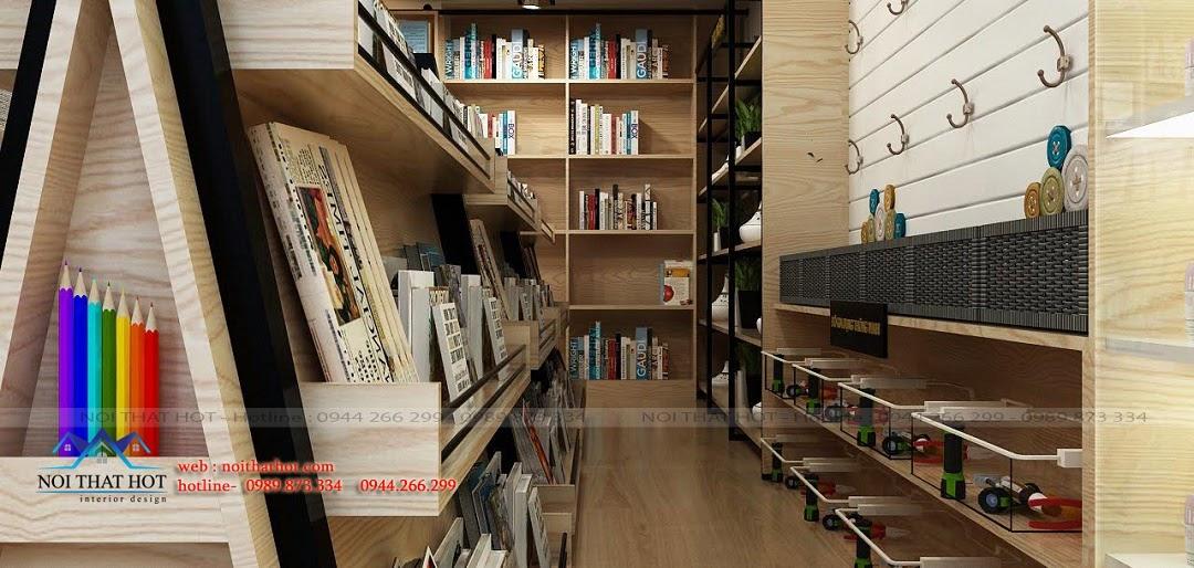 Thiết kế nhà sách tiêu chuẩn