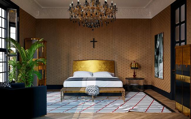 Thoáng nhìn người ta sẽ nghĩ đây là phòng ngủ của vua chúa thời cổ đại.