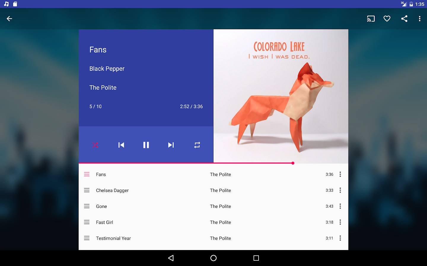 Shuttle Music Player- screenshot