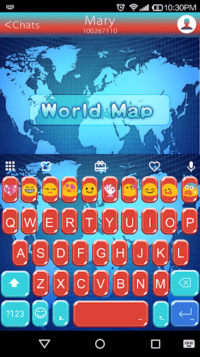 World Map Emoji Keyboard Theme