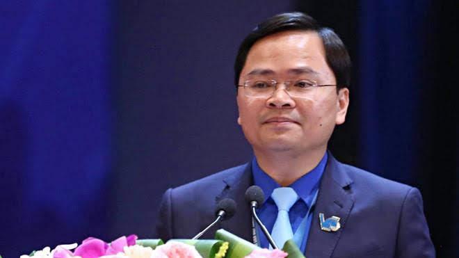 Anh Nguyễn Anh Tuấn, tân Chủ tịch Hội LHTN Việt Nam phát biểu tại Đại hội