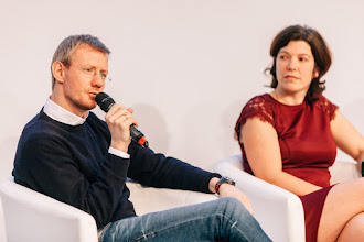 Photo: Philipp Kreibohm, managing director and co-founder, Home24; Karen Boers, managing director and co-founder, Startups.be