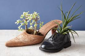 Make Recycled Shoe Planters » Dollar Store Crafts