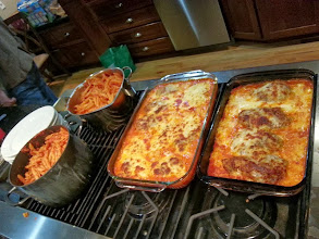 Photo: Enough chicken parm and pasta to feed the entire state. Damn tasty!
