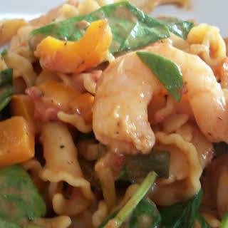 Creamy Cajun Pasta with Shrimp.