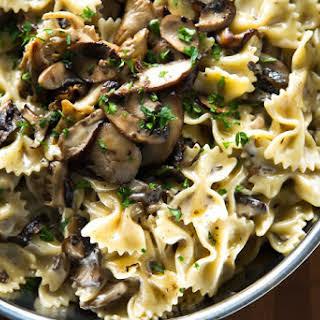 Creamy Mushroom Pasta.
