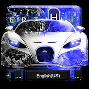 App Neon Blue Sports Car Keyboard Theme APK for Windows Phone