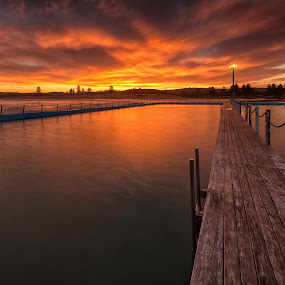 Sunset over North Narrabeen NSW by Adam Beniston - Landscapes Sunsets & Sunrises ( sunset )