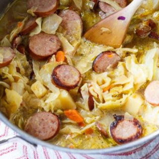 Smoked Sausage and Cabbage Soup.