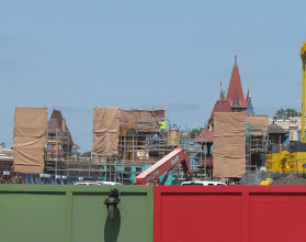 Photo: Another view of the wall construction from Storybook Circus side