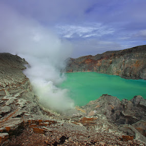The Smoke Of Ijen Crater by Teguh Iwan S - Landscapes Mountains & Hills