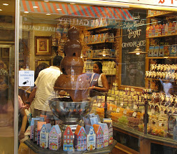 Photo: A fontain of chocolate. Belgium chocolate, anyone?