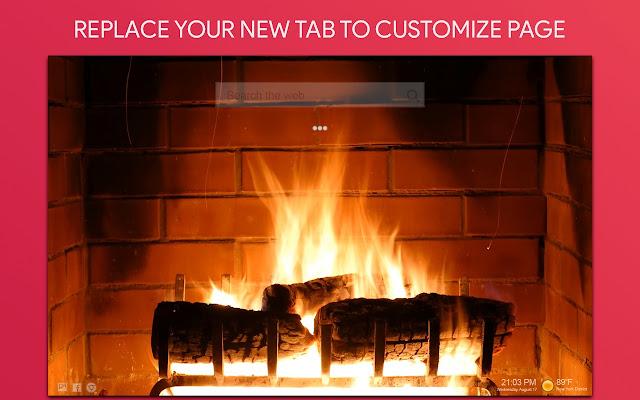 Fireplace Live Wallpaper HD Custom New Tab