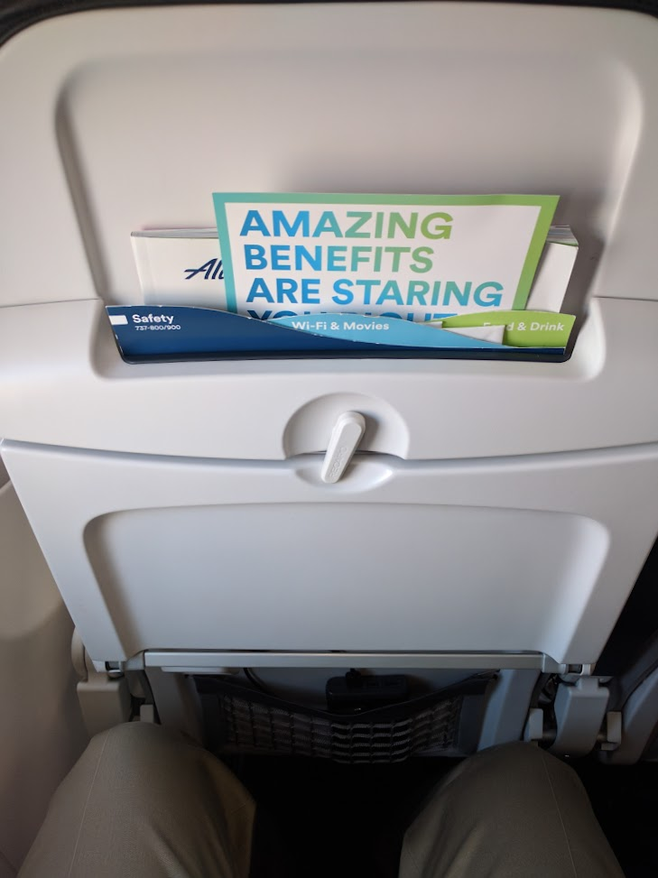 Review Of Alaska Airlines Flight From Washington To