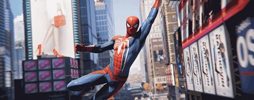 スパイダーマンPS4:ウェブスイング飛び回る