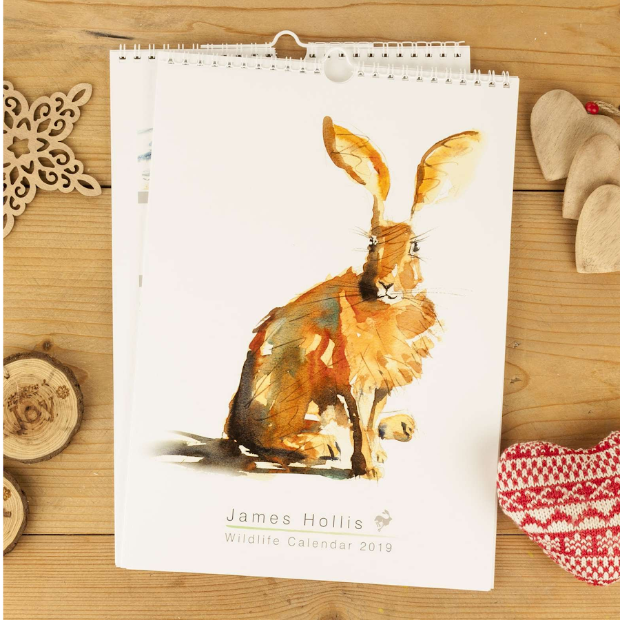 2019 wildlife art calendar