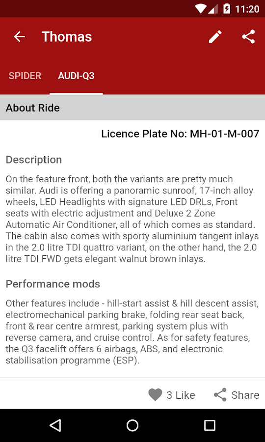 MyRide- screenshot