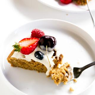 Coconut Tahini Vanilla Cake.