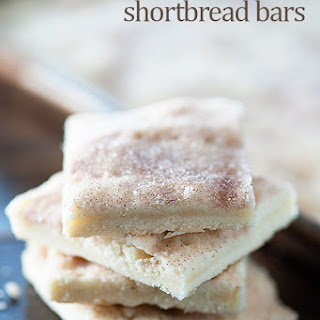 Cinnamon Sugar Shortbread Bars.