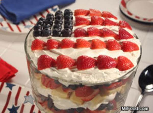 Easy 4th July Trifle